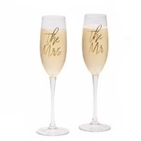 Two's Company Mr & Mrs Champagne Flute in Gift Box