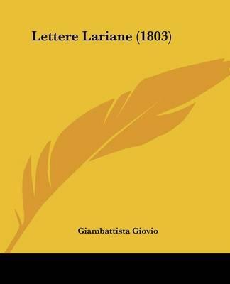 Lettere Lariane (1803) by Giambattista Giovio image