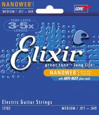 Elixir Medium 11-49 NanoWeb Coating - Electric Guitar Strings