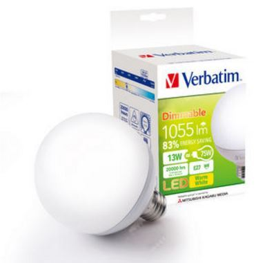 Verbatim LED Grand Classic E27 13W 1055lm 3000K WW Dimmable