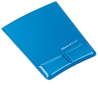 Fellowes Mouse Pad and Wrist Support - Blue