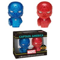 Marvel: Captain America (Red & Blue) - Hikari XS Vinyl Figure 2-Pack