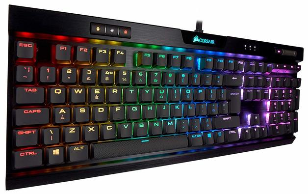 Corsair K70 RGB MK.2 Low Profile Mechanical Gaming Keyboard (Cherry MX Red) for PC