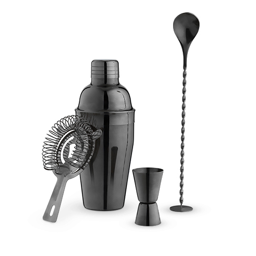 True: Jet - Barware Set (Gunmetal Black)