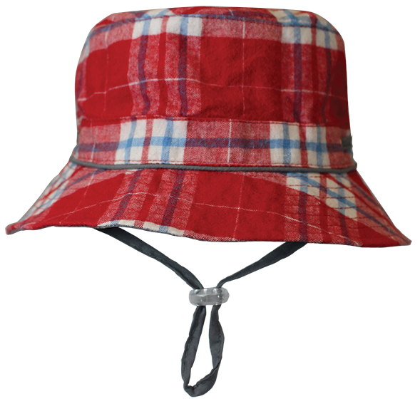 Black Ice: Trecker Red Bucket Cap - (2-4 Years)