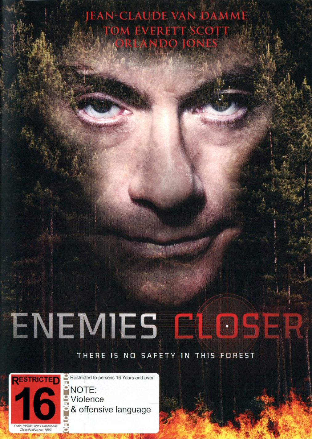 Enemies Closer on DVD image