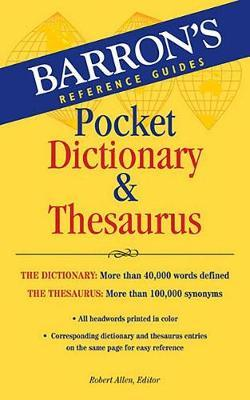 Barron's Pocket Dictionary and Thesaurus by Robert Allen image