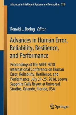 Advances in Human Error, Reliability, Resilience, and Performance image