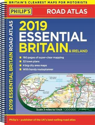A4 Map Of Ireland.Philip S 2019 Essential Road Atlas Britain And Ireland Spiral A4
