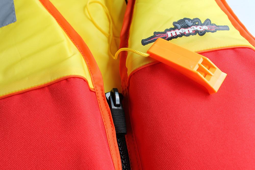 Menace Hercules Sports Life Jacket Adult   Size: Large (Yellow/Red) image