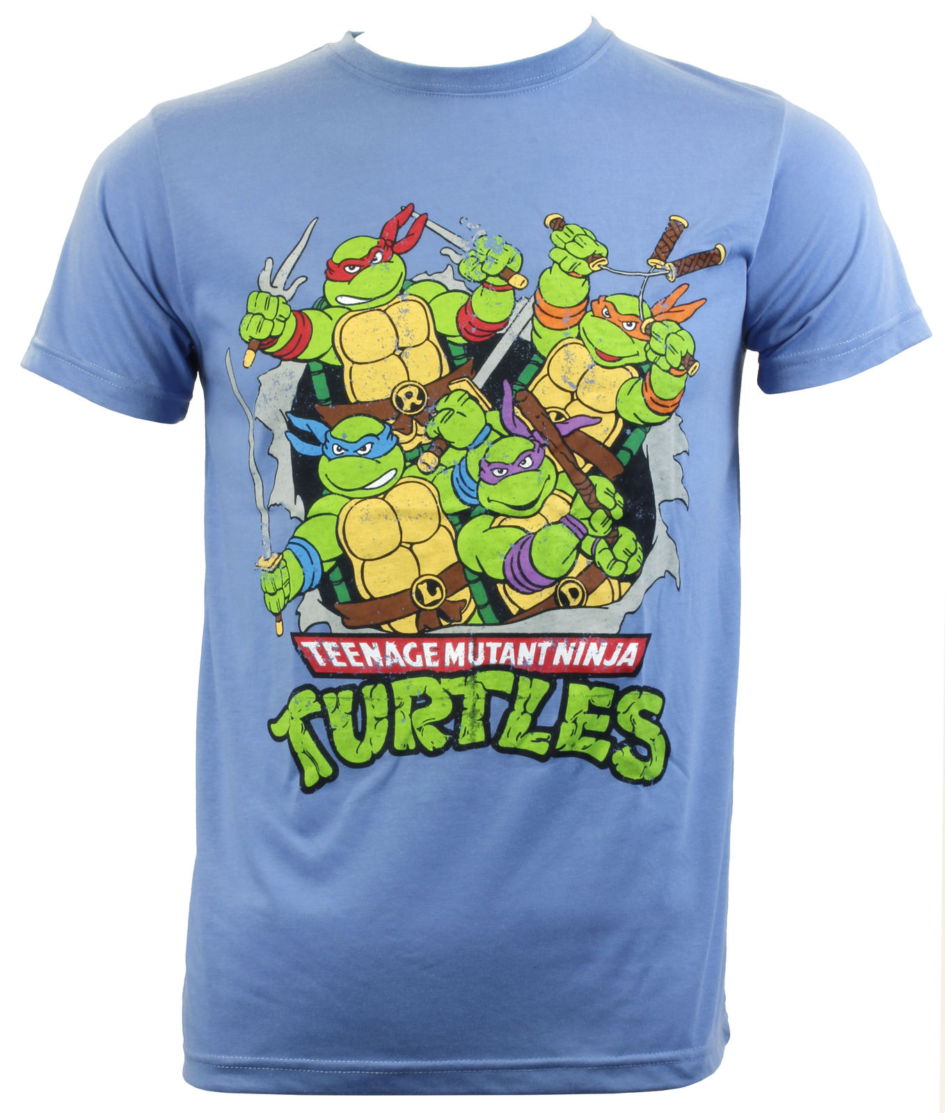 6855301f Teenage Mutant Ninja Turtle Retro T-Shirt (M) | Men's | at Mighty Ape NZ