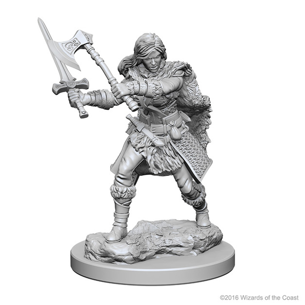 D&D Nolzur's Marvelous: Unpainted Minis - Human Female Barbarian