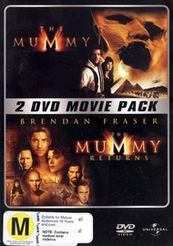 Mummy (1999) / Mummy Returns - 2 DVD Movie Pack (2 Disc Set) on DVD image