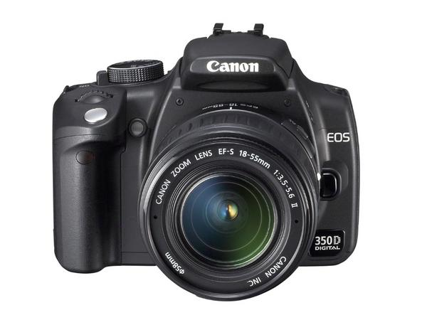 Canon Digital SLR Camera EOS 350D 8MP With 18-55 Lens Black image