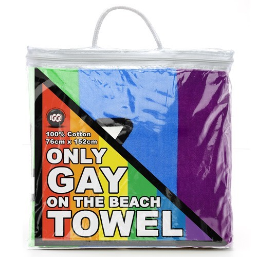 Only Gay on the Beach Towel image