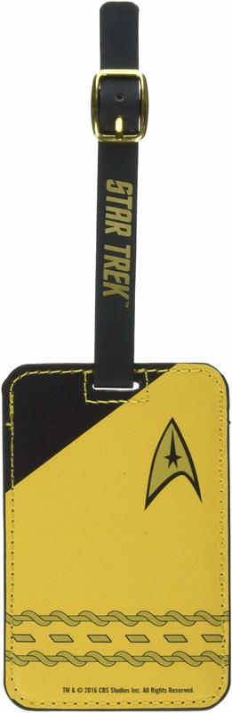 Star Trek: Gold Uniform Luggage Tag