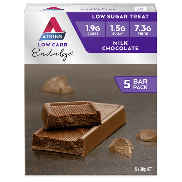 Atkins Endulge Bars - Milk Chocolate (Box of 5)