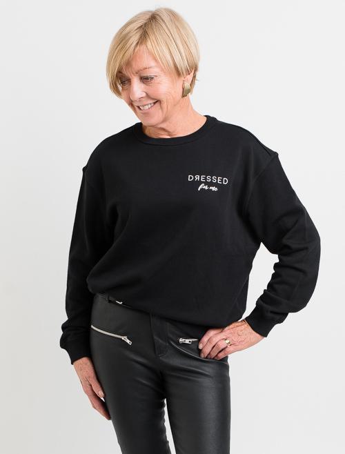 Dressed: Dressed For Me Black Crewneck Sweater - S