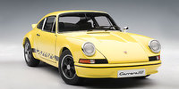 AUTOart 1:18 Porsche 911 Carrera RS 2.7 1973 with Black Stripes (Light Yellow) Diecast Model
