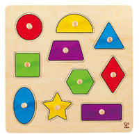 Hape: Geometric Shapes Knob Puzzle