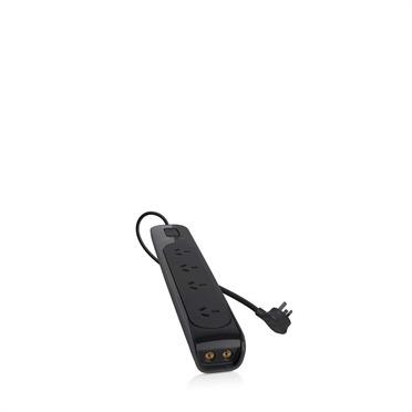 Belkin - Pro Series 4-Way Surge Protector with AV + $75K CEW - 2m Cord