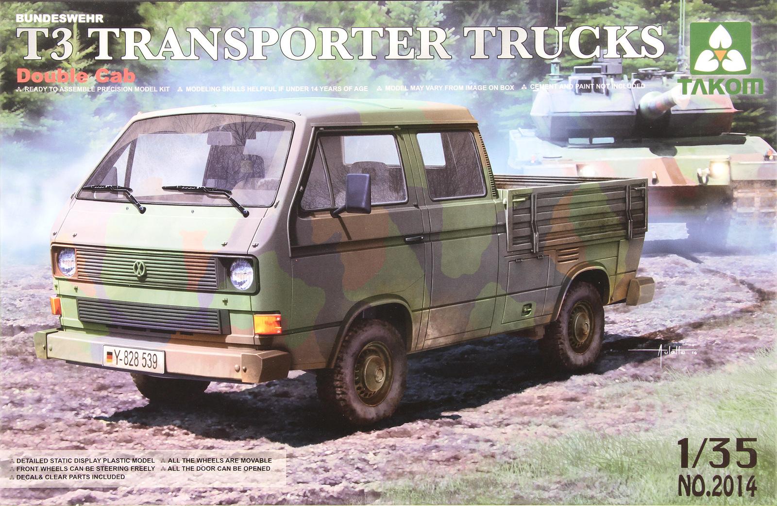 Takom: 1/35 T3 Transporter Truck (Double Cab) Model Kit image