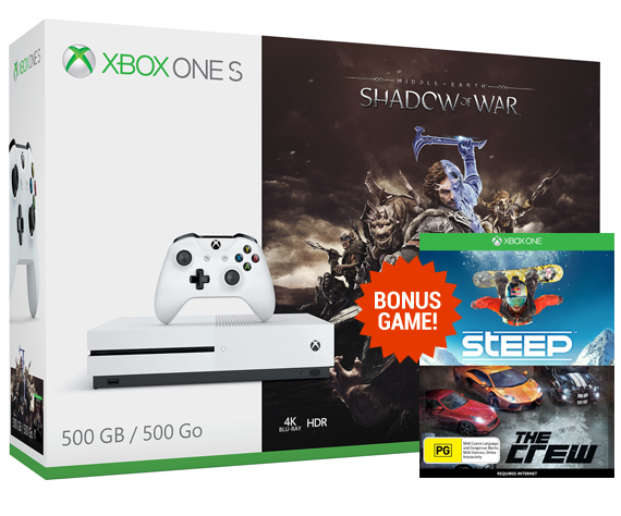 Xbox One S 500GB Shadow of War Console Bundle | Xbox One | On Sale ...