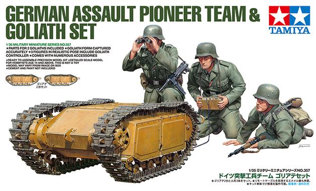 Tamiya 1/35 German Assault Pioneer Team - w/Goliath Set Scale Model Kit