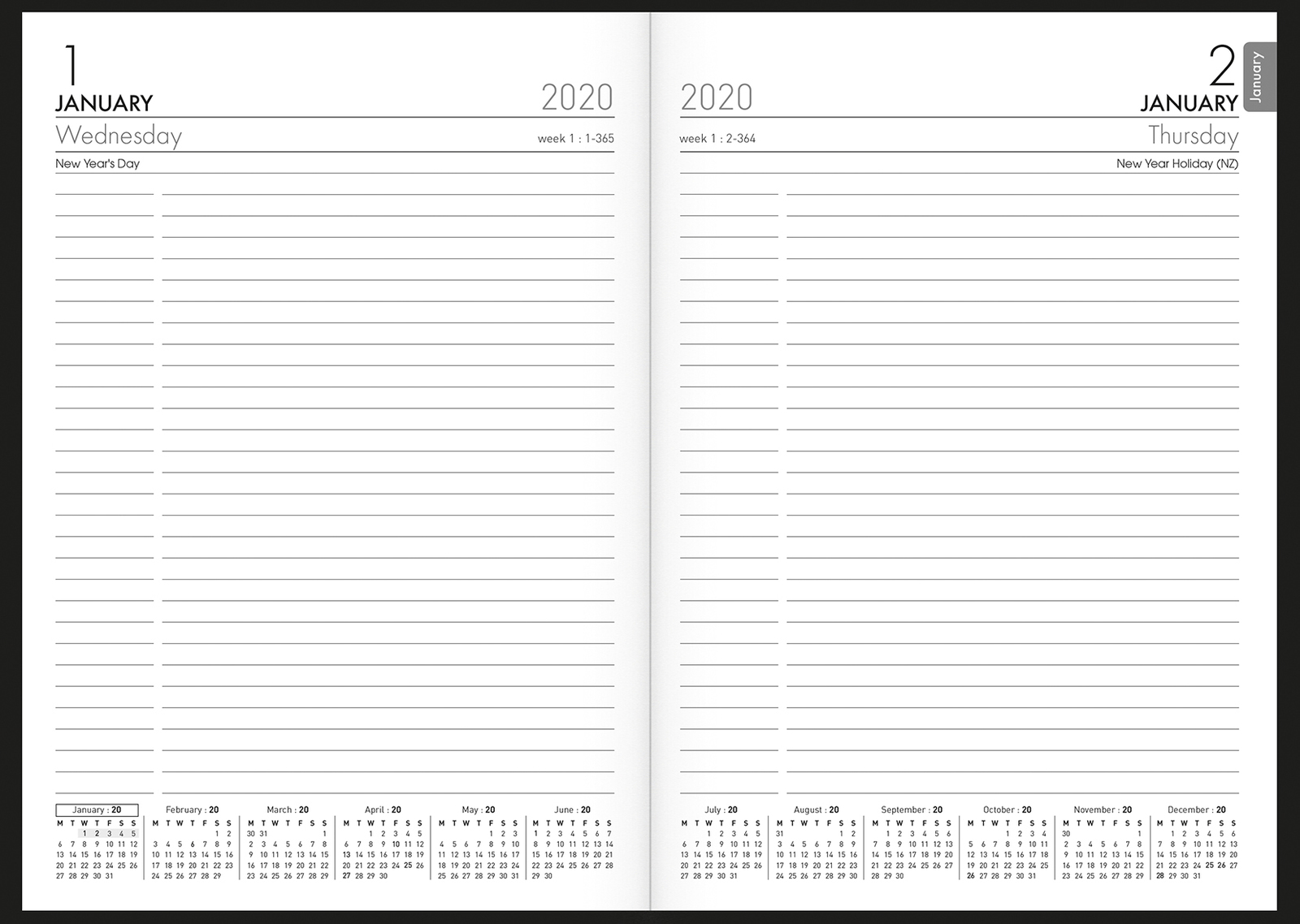 Collins: 2020 Daily A51 Diary - All Blacks image