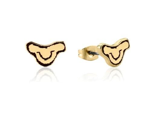 Couture Kingdom: Disney The Lion King Simba Head Stud Earrings - Yellow Gold