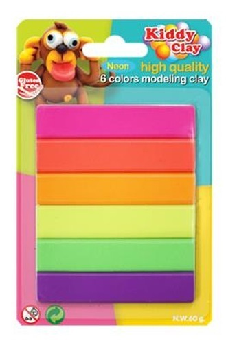 Nara: Modelling Clay - 6 Neon Colours (60g)