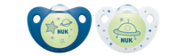 NUK: Glow in the Dark Soother - 6-18 Months (2 Pack) - Blue image