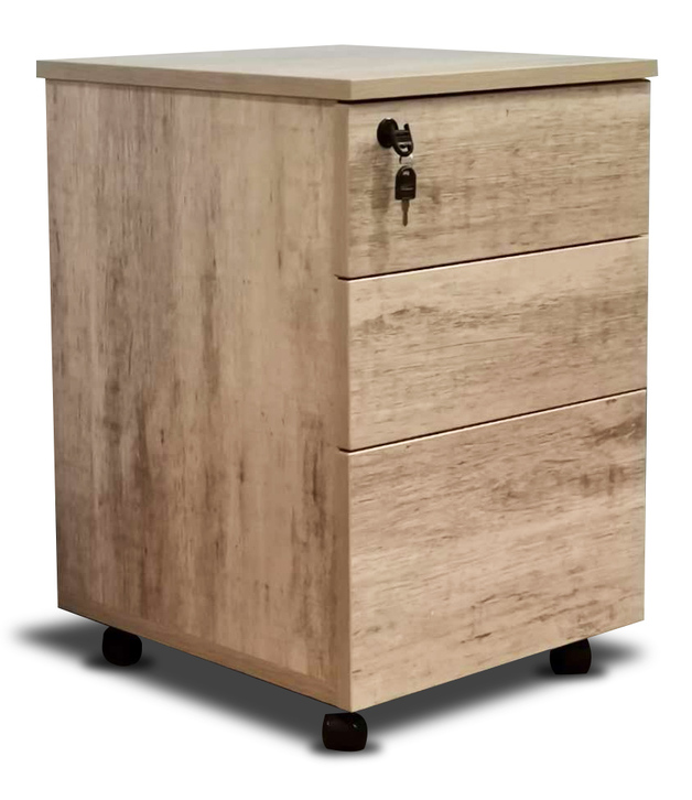 Mobile 3 Drawer in Wood Grain Finish