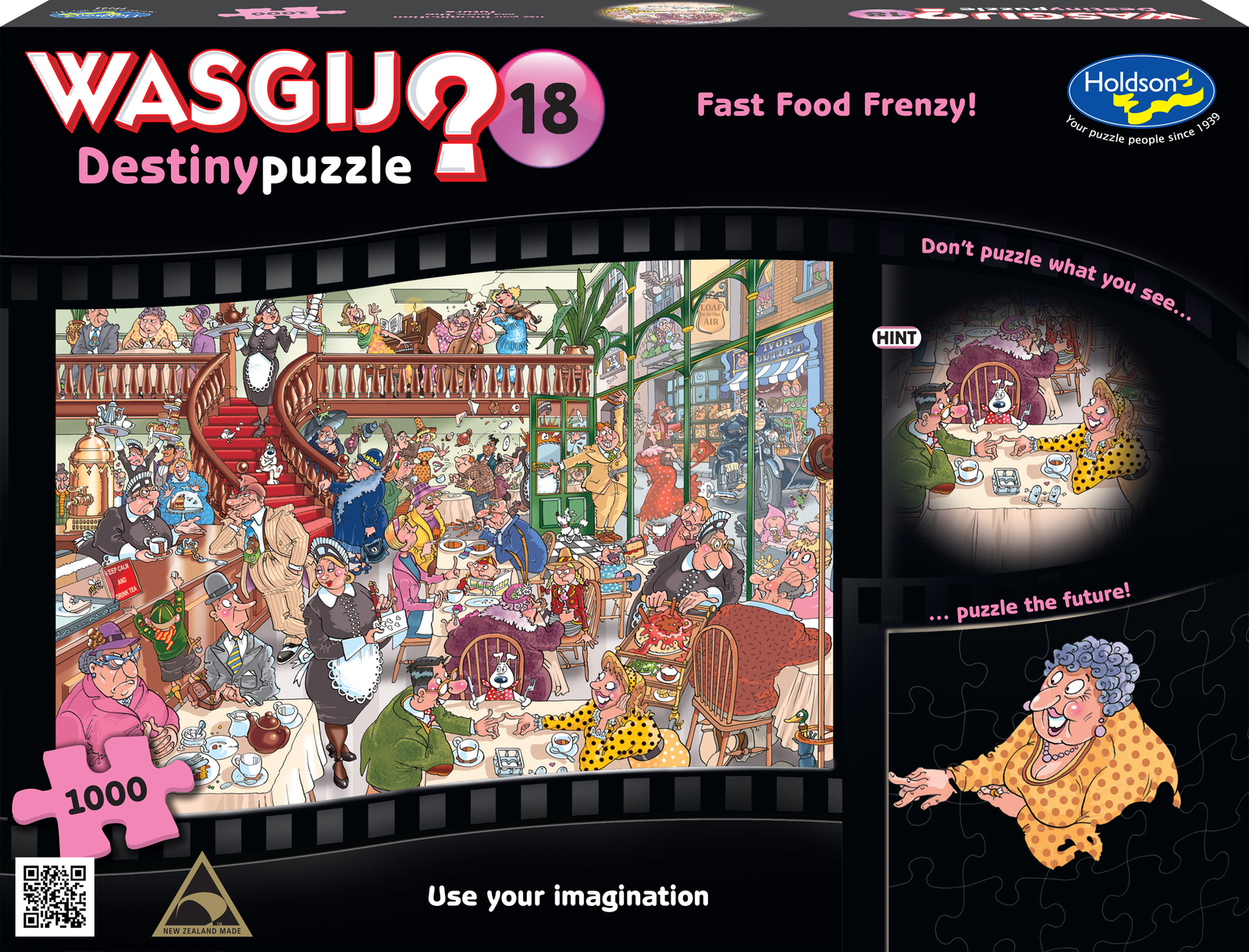 Wasgij: 1000 Piece Puzzle - Destiny (Fast Food Frenzy) image