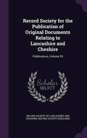 Record Society for the Publication of Original Documents Relating to Lancashire and Cheshire image