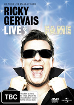 Ricky Gervais - Live 3: Fame on DVD