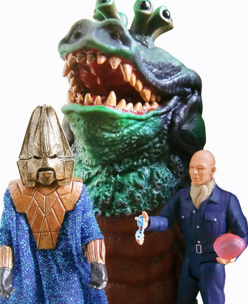 Doctor Who Enemies of the 3rd Doctor Exclusive Action Figure Set