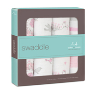 Aden+Anais Classic Swaddle - For The Birds (4 Pack Swaddling Wraps) image