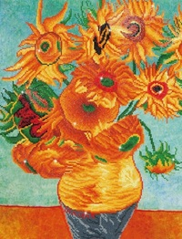 Diamond Dotz: Facet Art Kit - Sunflowers (Van Gogh)