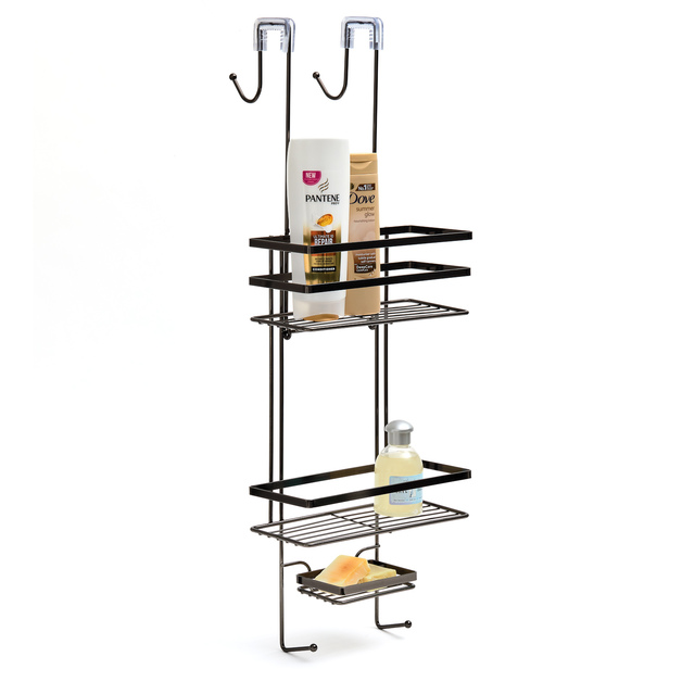 Black Onyx: Overscreen Shower Caddy (2 Shelves)