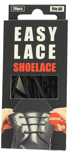 Easy Lace Round Shoelace - Black image