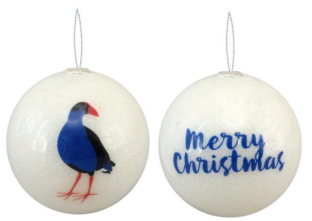 Antics: Christmas Decoration - White Pukeko
