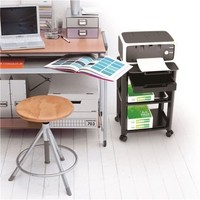 Brateck: Height-Adjustable Smart Cart XL with Three-Shelves and Drawer 13''-32'' image