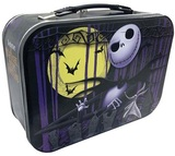 Nightmare Before Christmas Jack Skellington Tin Tote Lunch Box