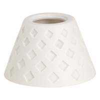 Porcelain Candle Holder - Upside - White Squares