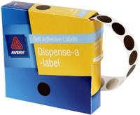 Avery Brown 14mm Diameter Circle Dispenser Labels Pkt1050