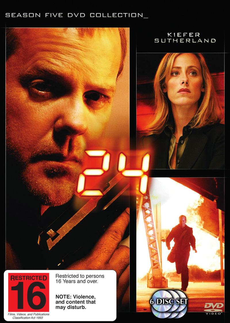 24 - Season 5 (6 Disc Set) on DVD image
