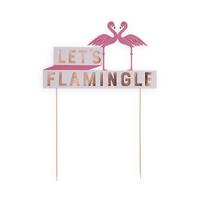Flamingle Cake Topper