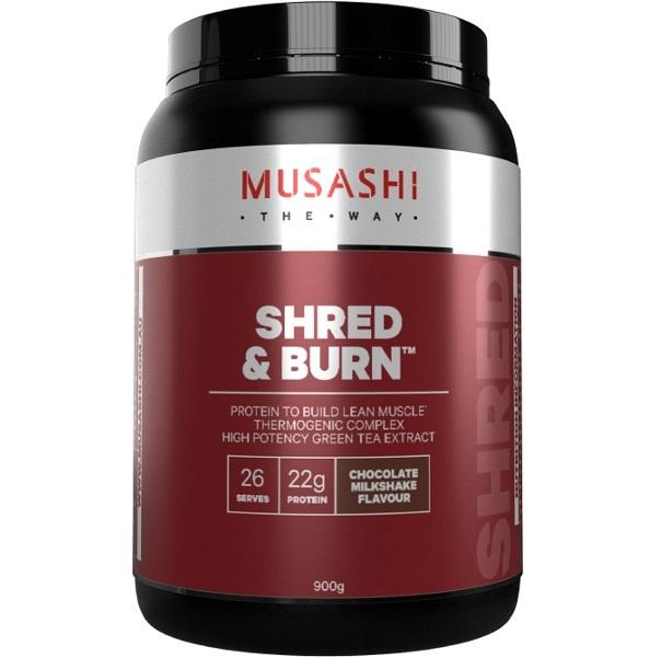 Musashi Shred & Burn Protein Powder - Chocolate Milkshake (900g) image