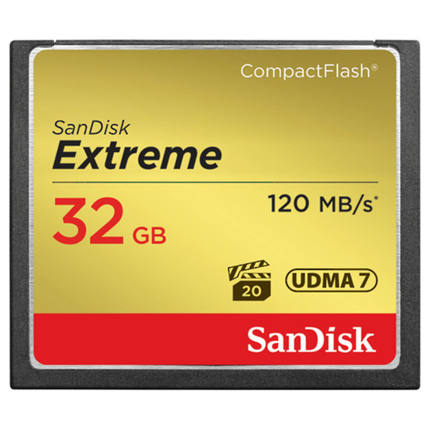 SanDisk: Extreme - 32GB Compact Flash CF Card